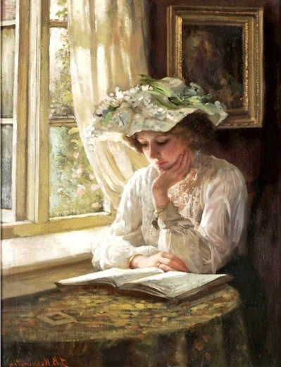 Lady Reading by a Window 5