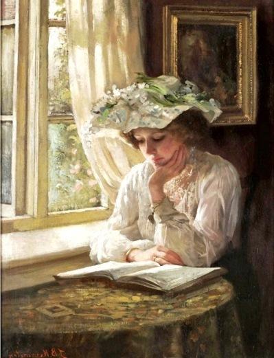 Lady Reading by a Window 5